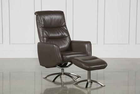 Marcel Cattail Reclining Chair & Ottoman