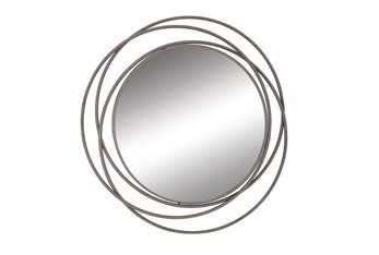 41 Inch 3-Ring Metal Wall Mirror