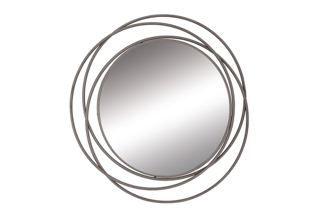 41 Inch 3-Ring Metal Wall Mirror - 360