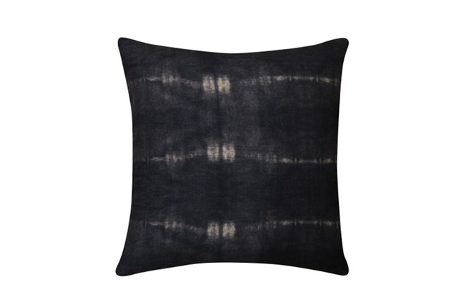 Accent Pillow-Tie Dye Lines Indigo 18X18 | Living Spaces