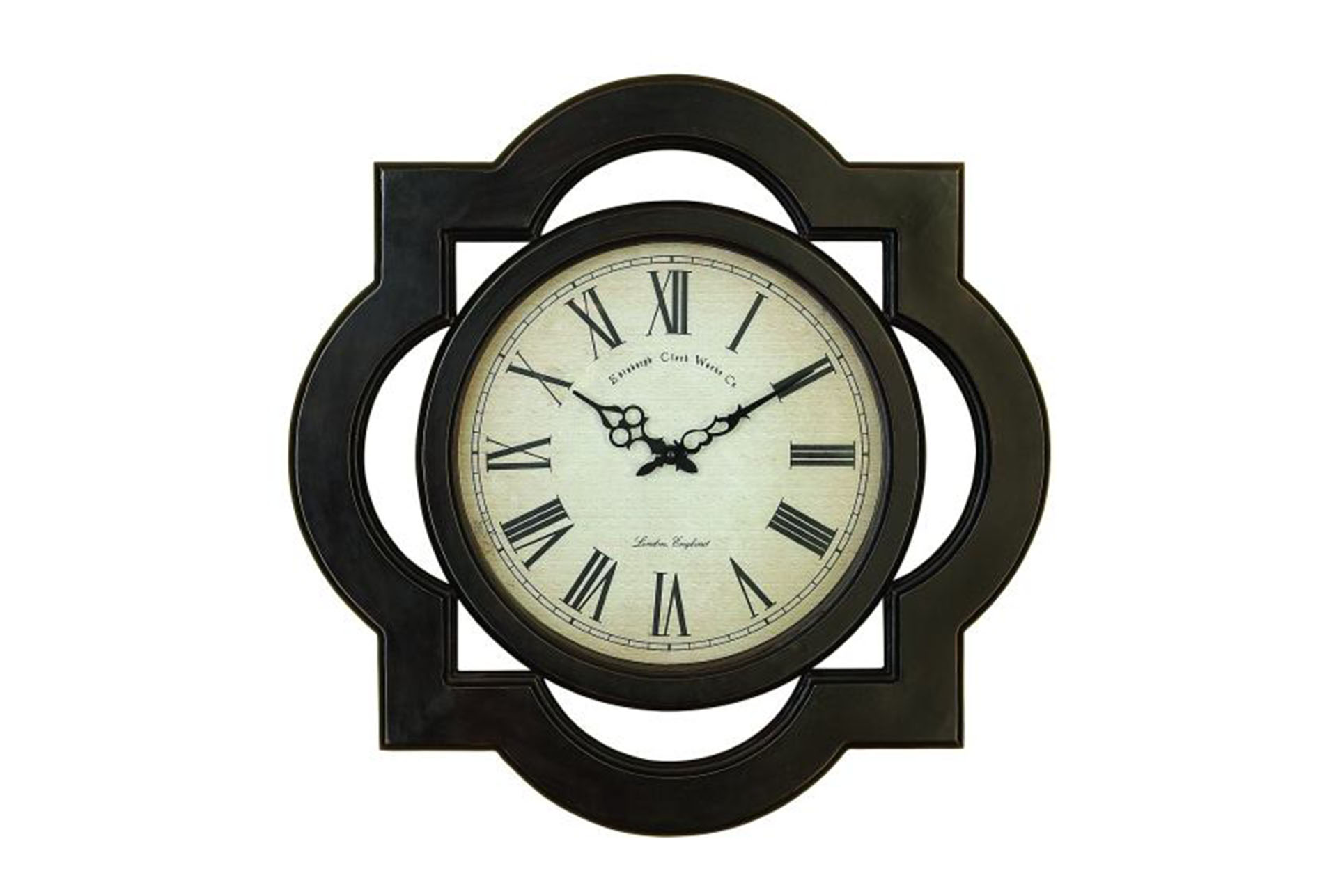 24 Inch Black Filigree Wall Clock