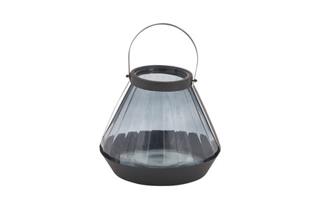 13 Inch Blue Glass Lantern - Main