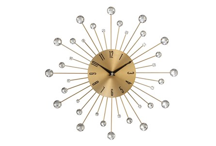 15 Inch Glam Gold Wall Clock