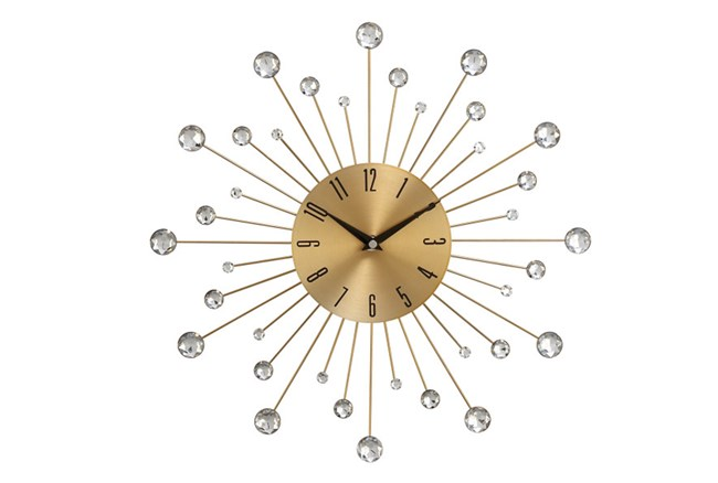 15 Inch Glam Gold Wall Clock - 360