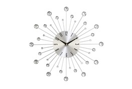 15 Inch Glam Silver Wall Clock