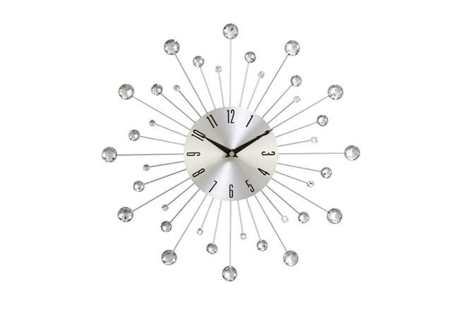 15 Inch Glam Silver Wall Clock - 360
