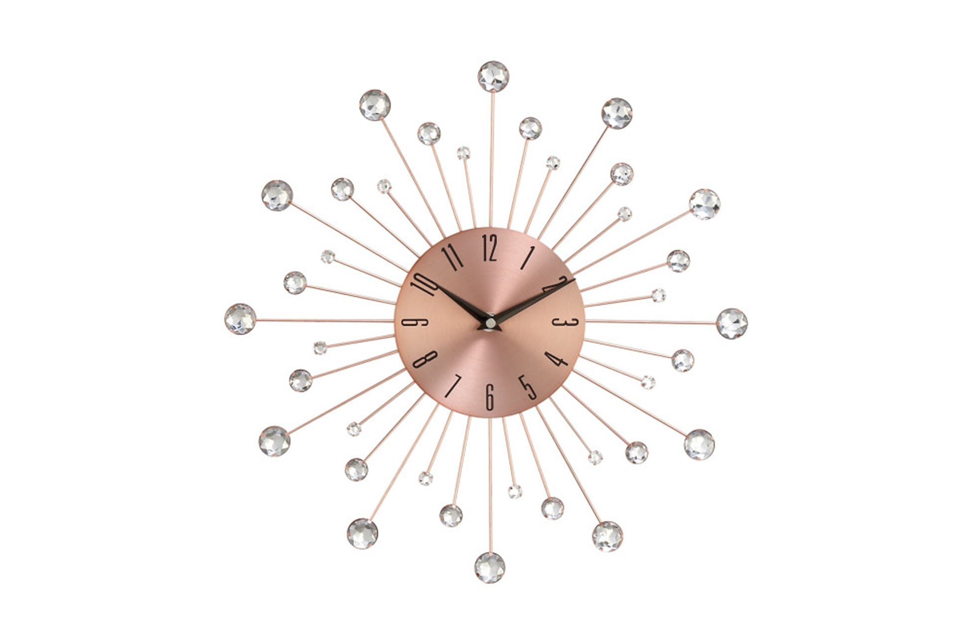 15 Inch Glam Copper Wall Clock Qty 1 Has Been Successfully Added To Your Cart