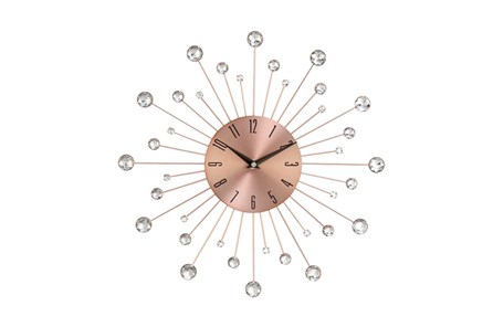15 Inch Glam Copper Wall Clock