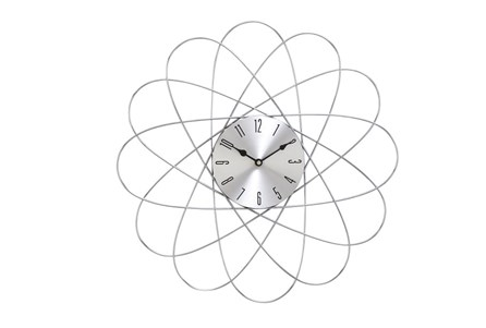 20 Inch Silver Orbit Wall Clock