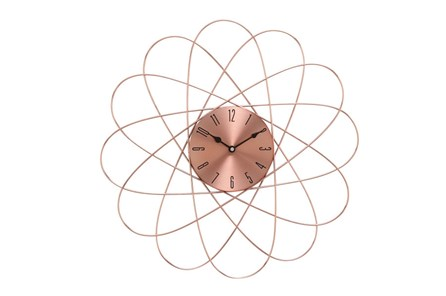 20 Inch Copper Orbit Wall Clock - Main