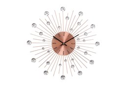 20 Inch Acrylic Metallic Brown Wall Clock