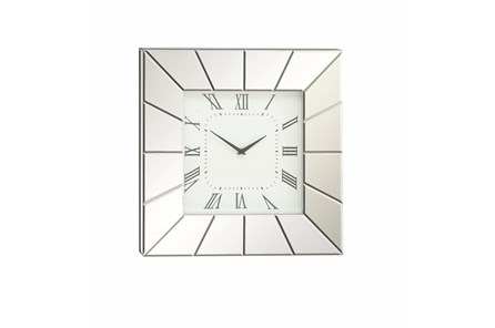 20 Inch Silver Mirror Wall Clock - Main