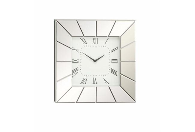 20 Inch Silver Mirror Wall Clock - 360