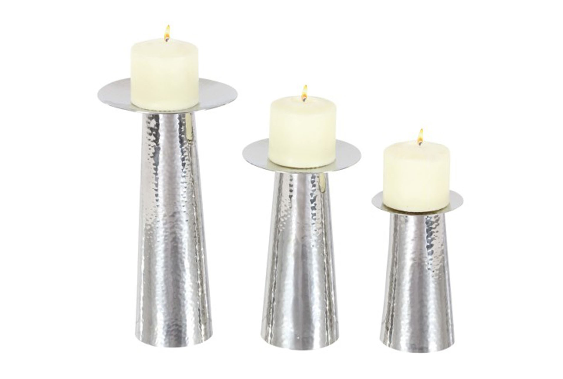 3 Piece Set Silver Modern Candleholder Qty 1 Has Been Successfully Added To Your Cart