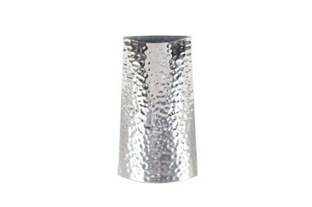 14 Inch Silver Textured Vase - Main