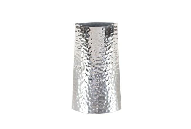 14 Inch Silver Textured Vase - 360