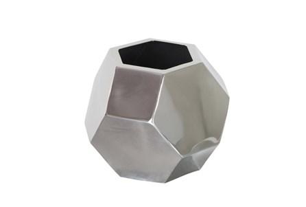 7 Inch Dark Silver Prizm Vase