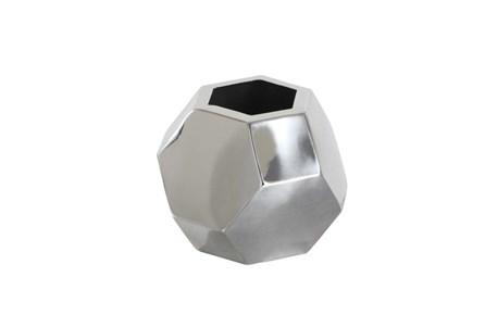 6 Inch Dark Silver Prizm Vase