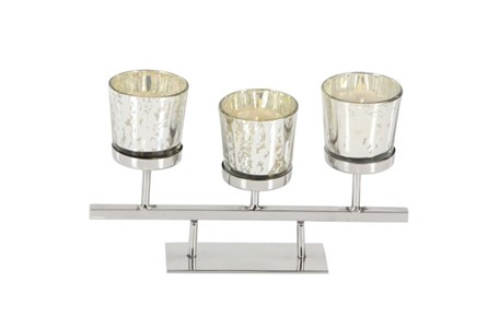5 Inch Mercury 3-Votive Holder