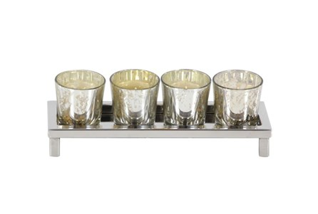 3 Inch Steel Glass Votive Holder