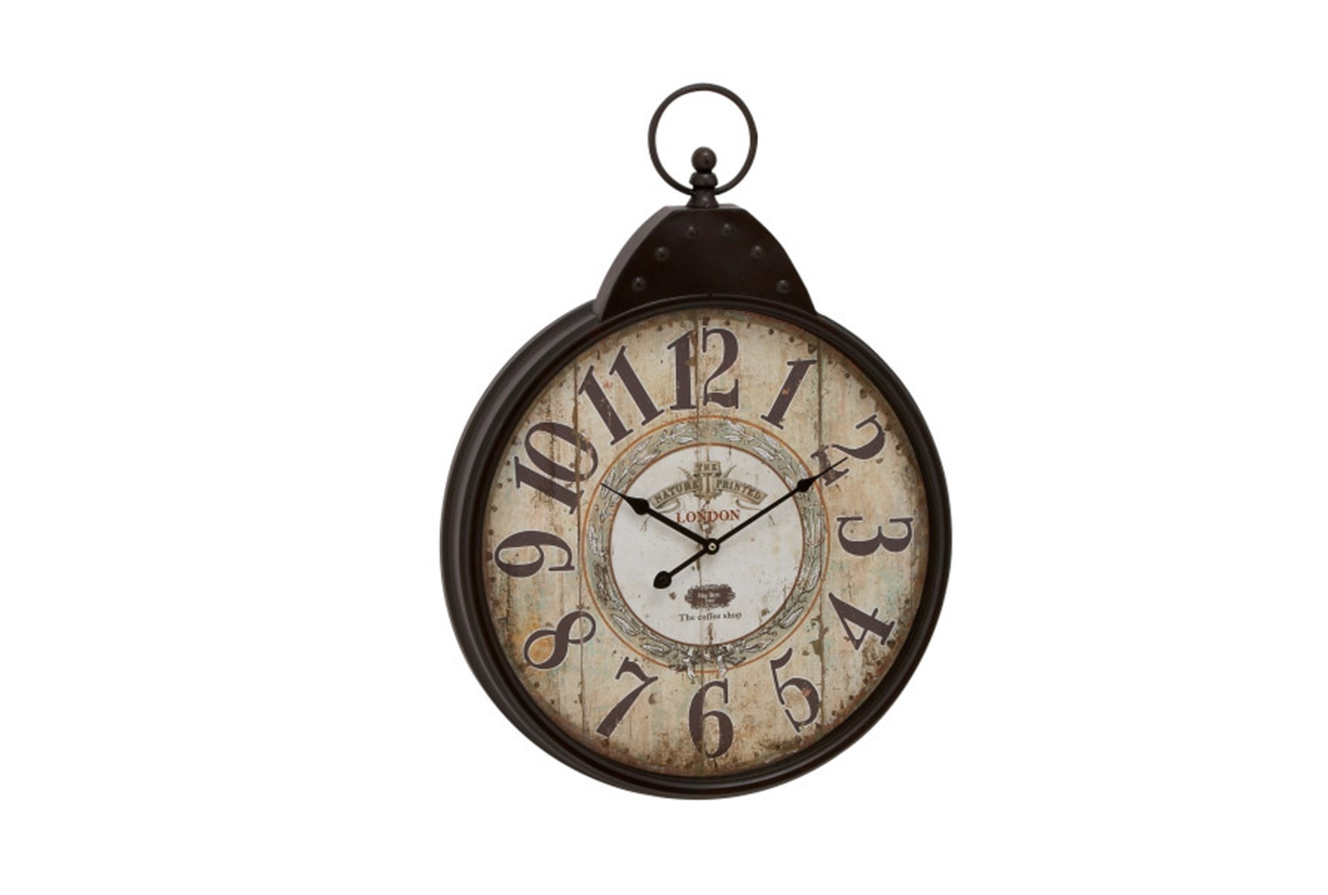 28 Inch London Rustic Wall Clock Living Spaces