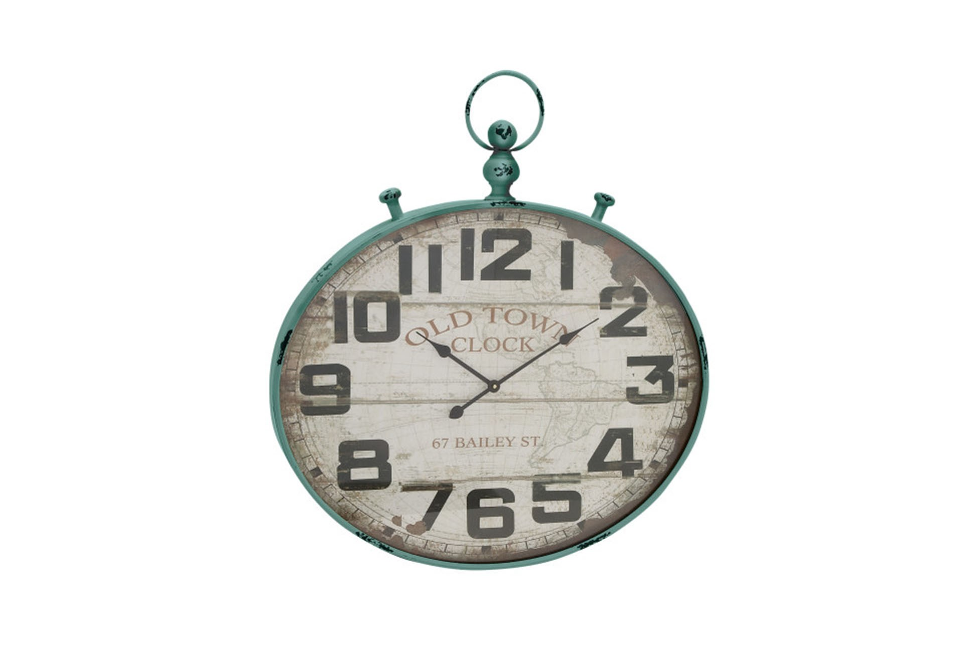 36 wall clock farmhouse 36 inch old town green wall clock qty 1 has been successfully added to your cart living spaces