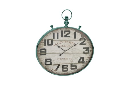 36 Inch Old Town Green Wall Clock
