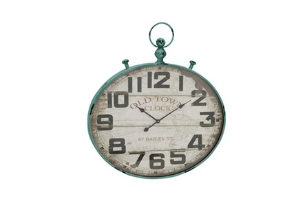 36 Inch Old Town Green Wall Clock - Main
