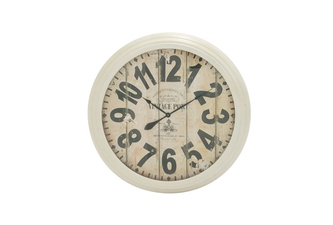 37 Inch Vintage Port White Wall Clock - 360