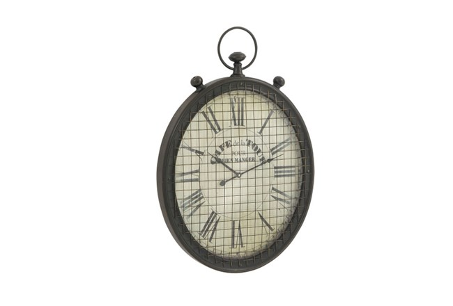 29 Inch Cafe De La Tour Grid Wall Clock - 360