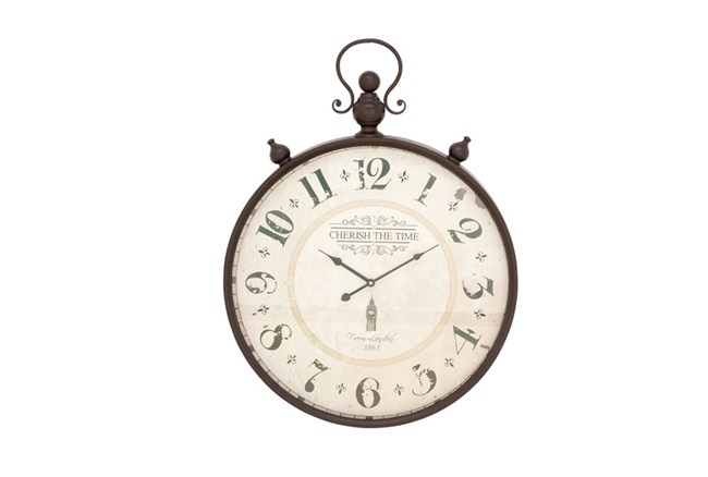 31 Inch Cherish The Time Wall Clock - 360