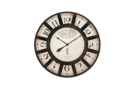 32 Inch Cherish The Time Wall Clock - Main