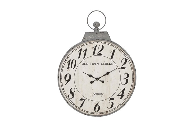 38 Inch Old Town Grey Wall Clock - 360