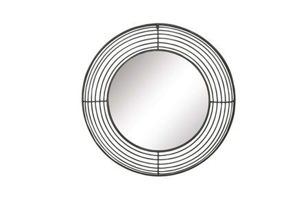 36 Inch 7 Ring Metal Wall Mirror