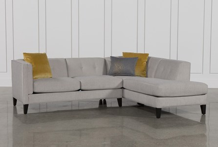 KIT-AVERY 2 PIECE SECTIONAL W/RAF ARMLESS CHAISE