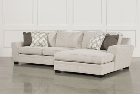 KIT-DELANO 2 PIECE SECTIONAL W/RAF OVERSIZED CHAISE