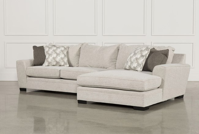 KIT-DELANO 2 PIECE SECTIONAL W/RAF OVERSIZED CHAISE - 360