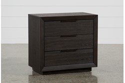 """Pierce 3-Drawer 30"""" Nightstand With USB and Power Outlets"""