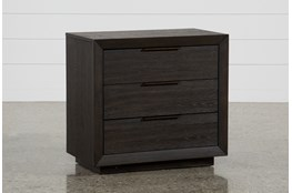 "Pierce 3-Drawer 30"" Nightstand With USB and Power Outlets"