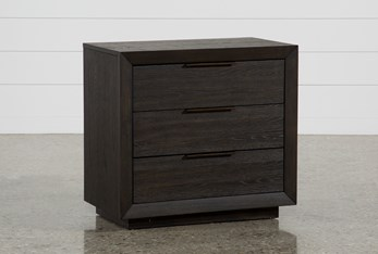 Pierce Espresso 3-Drawer Nightstand With Usb And Power Outlets