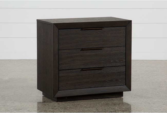 "Pierce 3-Drawer 30"" Nightstand With USB and Power Outlets - 360"