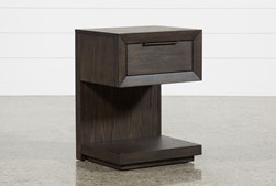 Pierce Espresso 1-Drawer Nightstand With Usb And Power Outlets