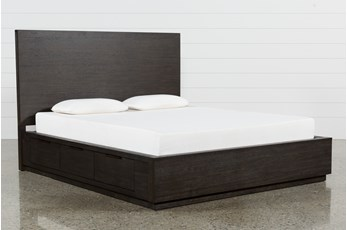 Pierce Espresso Queen Panel Bed W/Storage