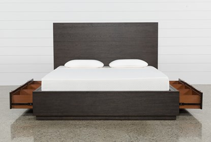 Pierce Queen Panel Bed With Storage Living Spaces