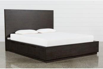 Pierce Espresso Eastern King Panel Bed W/Storage