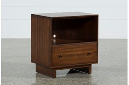 Maverick Open Nightstand With USB