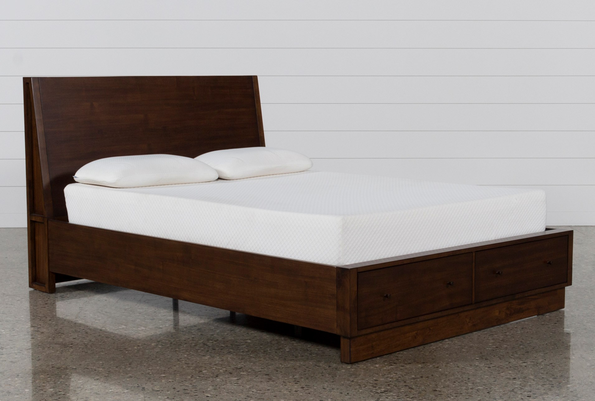 Maverick Eastern King Panel Bed W/Storage   Living Spaces