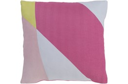 Accent Pillow-Color Block Pink/Yellow 22X22