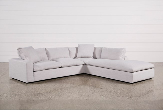 Haven 3 Piece Sectional With Right Arm Facing Bumper Chaise