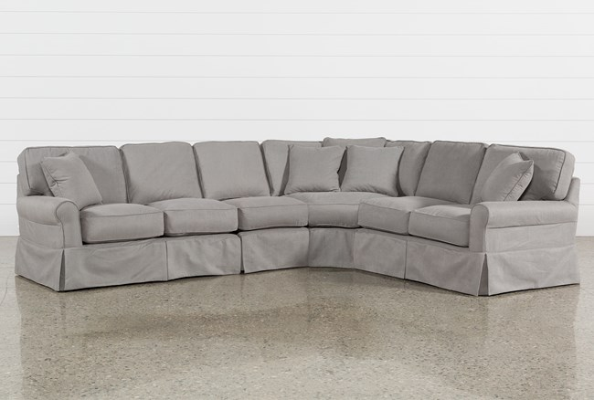 Carlyle Slipcovered 4 Piece Sectional - 360